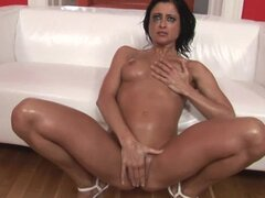 Slutty Cecilia Vega gets toyed and fisted by a guy