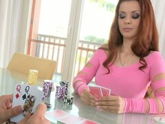 Lesbian Gamblers Play Cards For Money & Pussy