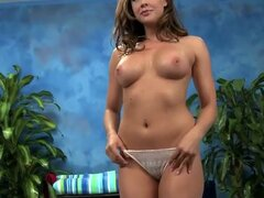 Chanel preston gets a slippery massage