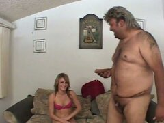 Skinny blonde slut gia down to serve small dick dude