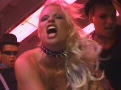 Nasty Blonde Ingrid Swede Goes From a Dildo To Three Big Cocks