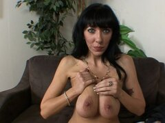 Busty mom pleases in POV