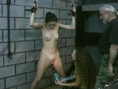 Submissive with a perfect body in the dungeon