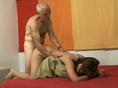 Two Old Latin Men fuck Teen