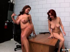 Eva Notty & Ashley Graham licking each other pussies in a hot lesbian video