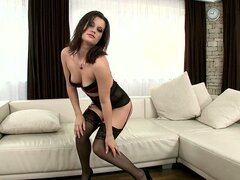 slut in sexy lingerie is fucked by two dudes