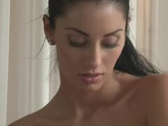 Naked hotties give each other sensual massage