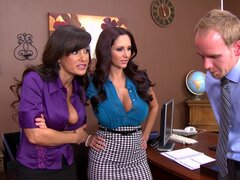 Sexy pornstars Ava Addams and Lisa Ann gets cum from Sonny Hicks