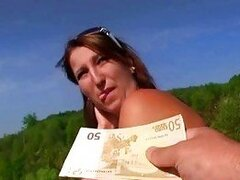 Amateur babe posed and fucked for cash