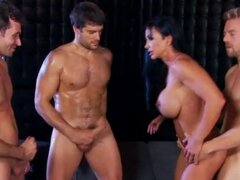 Muscular pornstar Jewels Jade gangbanged