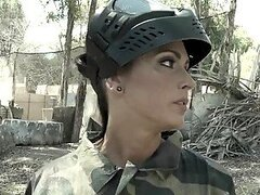 Jessica Jaymes Wins at Paintball Thanks to Her Big Tits and Fucking Skills