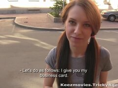 A skinny redhead is eager to be fucked!