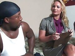 Sexy wife fucked by 2 black dudes