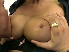 Big Breasted Police Officer Mia Lelani Riding a Cock After Sucking Balls
