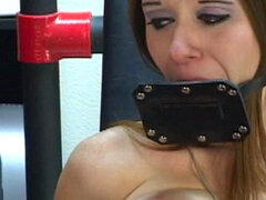 Horny gal gets nailed in BDSM