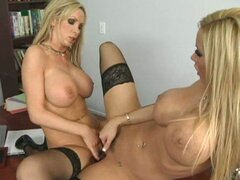 Nikki and Lexxi enjoy playing with each other's pussies until they cum