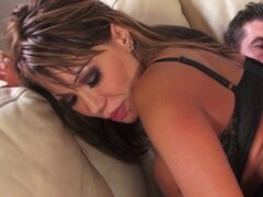 Ava Devine does dp during a threesome