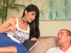 MILF gets fucked by her son-in-law on the eyes of her daughter