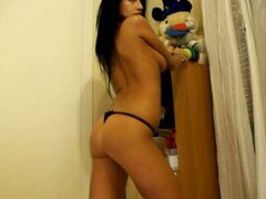 Awesome strip dance by my 18 yo Latina girlfriend at her room