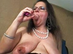 Big Tits Mature With Glasses Toying
