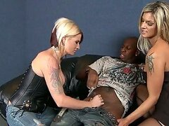 Black Cock In a Wild Threesome With Two European Blonde MILFs