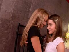 Anal and Vaginal Fingering in Hot Lesbian Video with Two Teen Beauties