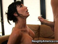Lezley Zen fingers her wet pussy while she deep throats his cock