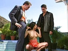 Spanish slut Carmen dped near the pool