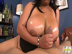 A BBW Latina beauty is covered...