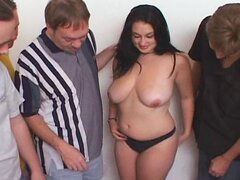 Busty Teen Raven Gets A Tampa Bukkake Party