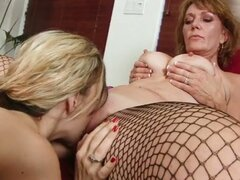 Old-young lesbian toy action with nicole logan and blonde
