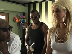 Blonde Layla Price screwed by three men