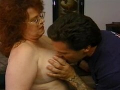 Fat mature redhead sucks big cock