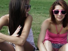 Two Teen BFFs Crave Big Cock At The Park