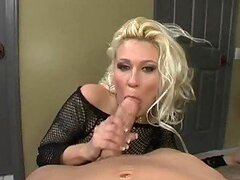 Gorgeous milf swallows tons and tons of cum here