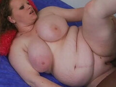 Rich breasted BBW milfie takes well hung BBC up her fat cunt
