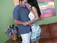 Tempting Tabitha Stevens cons the creamy filling out of her pussy hungry partner