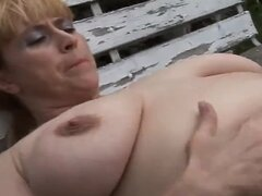 Chubby Mature With Hairy Cunt Outdoors by TROC