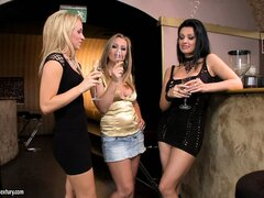 Aletta Ocean and her kinky lesbian girlfriends pissing and fucking each other with a bottle