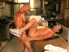Hot military fuck with young cook