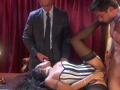 Judge Kaylani Lei In Sexy Lingerie Gets Double Teamed In Court