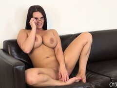 Mackenzee Pierce playfully fucks herself during a hot solo show