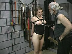 Young babe gets drilled in BDSM