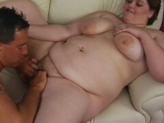 Brunette bbw sucks and fucks big cock