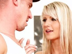 Bisexual threesome with hot blonde