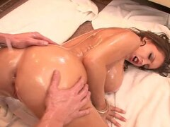 Awesome Oiled Slut Getting Her Nice Ass Pound