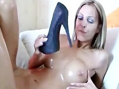 Sexy German Fucking Her Own High Heel  german ggg spritzen goo girls