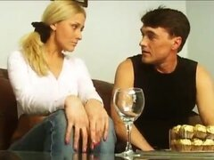 Blonde fuck in the ass and mouth