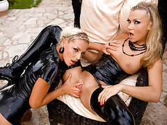 If you have a thing for shiny and kinky latex gear clad on boneriffic bitches then Jennifer Love and Michelle are the right girls you gotta stop by in this lesbian flick! They have a lech for latex too, but more importantly, they have a big thing for whac