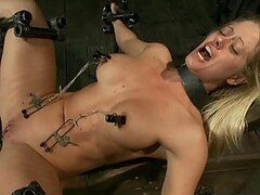 Lovely Blonde BDSM With Spanking Action and Wild Machine Sex